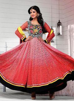 Pink Sonal Chauhan Long Length Anarkali Suit