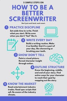 Guide on How to Be A Better Screenwriter! Find more info by clicking through to the full post. screenwriter | filmmaking | writing | screenplay #FilmmakingTricks