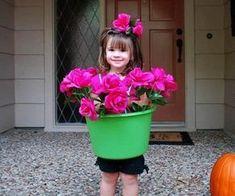 disfraz casero de tiesto de flores