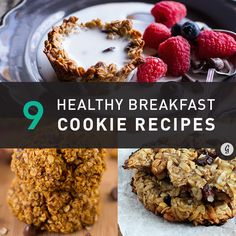 Healthy breakfast cookie recipes - for those who want to indulge in some comforting cookies for breakfast on a #sickday!