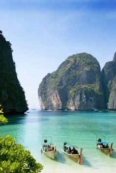 Maya Bay, Krabi, Thailand. Photo: Corbis