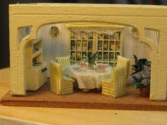 dining room in 1/144 by goldieholl, via Flickr