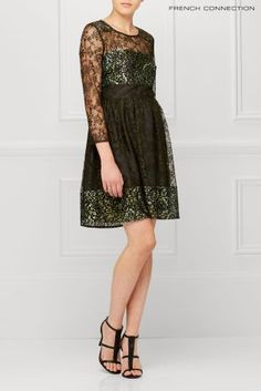 Buy French Connection Khaki Molly Lace Dress from the Next UK online shop