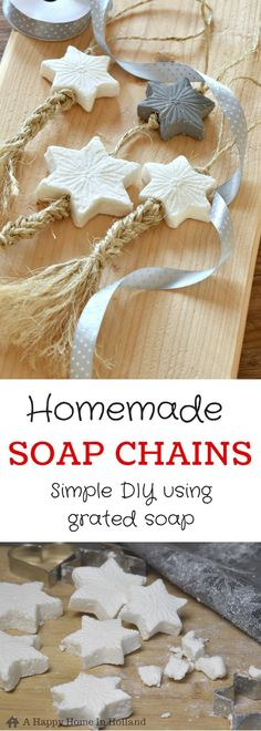 Handmade Gift Idea: These easy to make soap chains actually look shop bought so they look great displayed around your home or to use as mother's day, birthday, wedding and Christmas gifts.