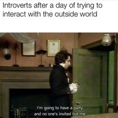 Introvert Quotes, Introvert Problems, Introvert Funny, Mbti, Satire, Funny Relatable Memes, Funny Quotes, Quotes Quotes, Cover Quotes