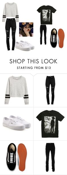 """Annie Leblanc and Hayden Summerall Outfits"" by jayjay200500602 ❤ liked on Polyvore featuring Yves Saint Laurent, Vans, Hot Topic, AMIRI and hannie"