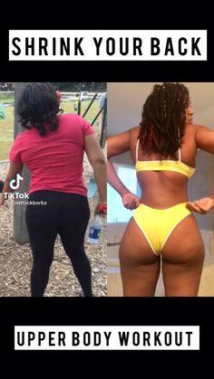 Slim Waist Workout, Full Body Gym Workout, Back Fat Workout, Gym Workout Videos, Gym Workout For Beginners, Butt Workouts, Flexibility Workout, Upper Body, Pinterest Workout