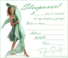 Printable Taylor Swift Party Invitation that you can edit Taylor