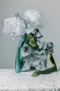 Venera Kazarova is an artist and designer, based in Moscow, Russia. In she graduated from Moscow State University of Design and Technology, and . Creative Photography, Fashion Photography, Conceptual Photography, Soda Can Art, Manequin, Conceptual Fashion, Conceptual Art, Newspaper Dress, Trash Art