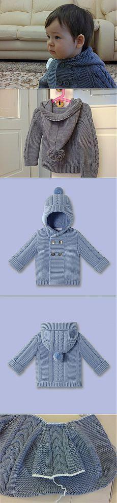 Very nice knitting coat for children.
