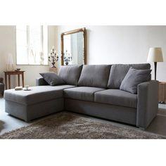 Un -plus grand- canapé avec méridienne, gris -plus- foncé !