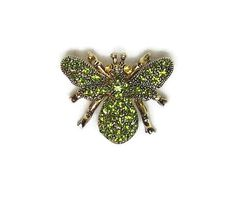 Bumble Bee Brooch Pin Gold and Green Body by GreenBeeKC on Etsy, $14.99