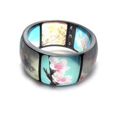 Spring Resin Bangle. Instagram Bangle Bracelet from BuyMyCrap on etsy