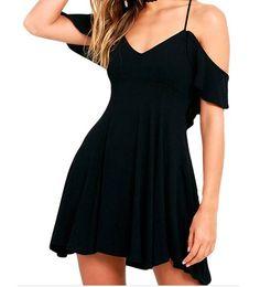 TomYork Sweet Sexy Backless Skater Dress (Black,S)