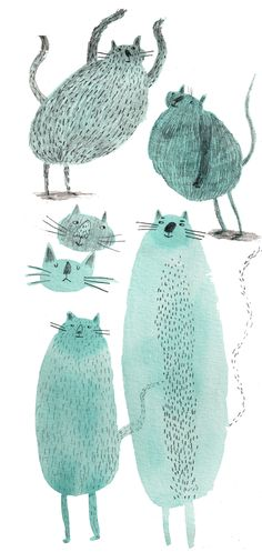 #cat Auf marion-mmm.blogspot.fr  http://www.pinterest.com/merissa/illustration/