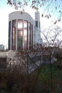 Saint Wenceslas church, Vršovice, Prague, 1929–1930 by Josef Gočár. Beautiful modernist church.