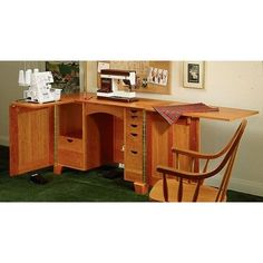 View a Larger Image of Woodworking Project Paper Plan to Build Sewing Cabinet