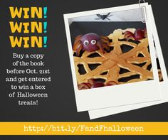 #win a box of Halloween treats, get a copy of the book to be entered into the draw, open worldwide  http://www.my-organized-chaos.com/fast-fun-ghoulish-halloween-treats/