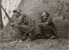 Soldiers on the frontline (Spanish CivilWar 1936-1939) wearing espadrilles