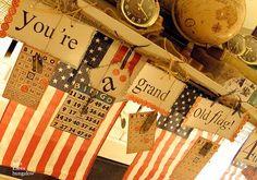 patriotic banner/garland