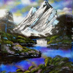 Nature spray painting - art by Robert Stevens