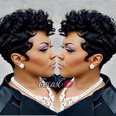 Fashion Womens Short Blone Ombre Wavy Wig Curly Synthetic Hair Full Head Wig US Cute Hairstyles For Short Hair, My Hairstyle, Black Girls Hairstyles, Summer Hairstyles, Short Hair Cuts, Curly Hair Styles, Natural Hair Styles, Short Quick Weave Hairstyles, Pixie Styles