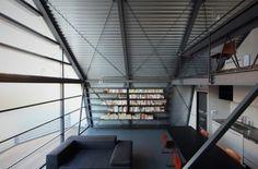 Mishima House by Keiji Ashizawa Design. Cool bookshelf!