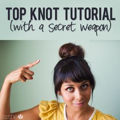 Cristi shares with us her secret to making a thick and full looking top knot! It only takes five miutes!