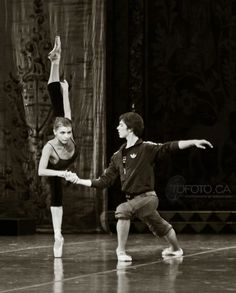 Oksana Bondareva and Victor Lebedev rehearsing Swan Lake at Mikhailovsky Theatre. Photo by Tarzan Dan TDFoto.ca