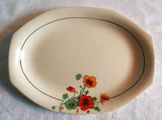 Vintage Homer Laughlin Nasturtium Serving Plate