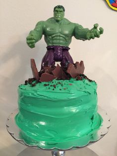 Hulk Birthday Cakes, Hulk Birthday Parties, 4th Birthday, Birthday Ideas, Hulk Cakes, Elmo Cake, Candy Cakes, Diy Cake, Incredible Hulk