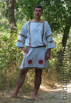 White Supper male Roman costume