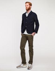 Navy Wool Serge Bedford Jacket
