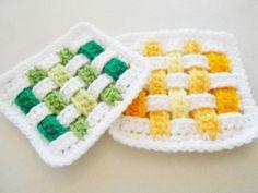 Weave Granny Square Crochet Pattern