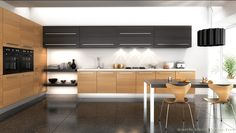 Modern kitchen cabinets handles chairs uk table sets canada furniture design wooden medium size of c Minimal Kitchen Design, Design Your Kitchen, Kitchen Cabinet Design, Minimalist Kitchen, Kitchen Decor, Decorating Kitchen, Contemporary Kitchen Furniture, Contemporary Kitchen Design, Contemporary Cabinets