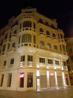 Edificio Modernista. Plaza de Felix Saenz. Málaga.