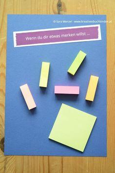 """Wenn-Buch """"Wenn du dir etwas merken willst ..."""" #Notizzettel #vergessen #vergesslich"""