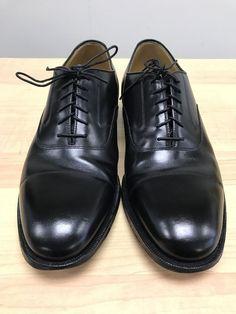 518d605eaf7 Johnston And Murphy Mens Black Leather Dress Shoes Oxfords