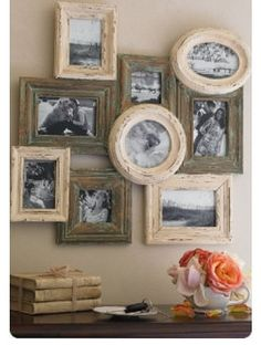 frames are beautiful and love the black and white photos, looks so much more stylish than regular pictures