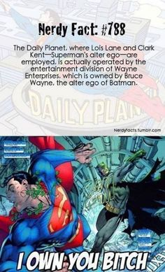 Cool nerdy fact :) excuse the language. Batman is way better than Superman Dc Memes, Funny Memes, Superhero Facts, Superhero Movies, Batman Facts, Nananana Batman, Dc Anime, Hilario, Batman And Superman