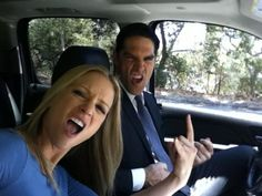 "Criminal Minds Photos: Classic Rockers AJ Cook (ajcookofficial) tweets, ""Rockin out with @Gibson Thomas to classic rock in the BAU SUV."""