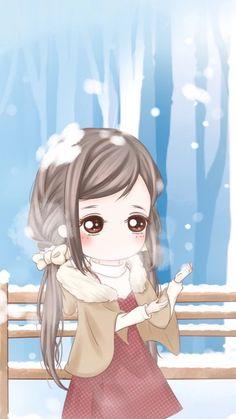 gambar art girl, baby girl, and xiaoxiao wei Kawaii Chibi, Kawaii Cute, Anime Chibi, Kawaii Anime, Girl Cartoon Characters, Cute Couple Cartoon, Cute Girl Wallpaper, Chibi Girl, Beautiful Fantasy Art