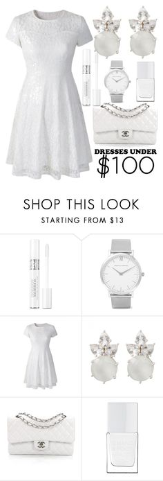 """""""dresses under $100"""" by j-n-a ❤ liked on Polyvore featuring Christian Dior, Larsson & Jennings, Chanel, The Hand & Foot Spa, Spring, dresses, under100 and dressesunder100"""