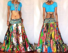 Ethnic Boho Gypsy Batik CIRCLE PANLED SKIRT by MissEthnicCom, £59.99
