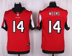 Atlanta Falcons #14 Eric Weems Red Team Color NFL Elite Men's Jersey