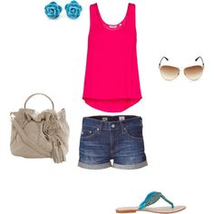 Oh, how I miss summer, created by #kimlusk23 on polyvore.com
