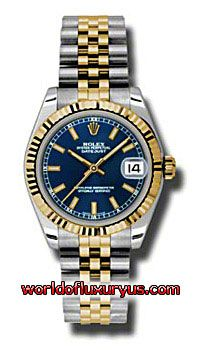 This Rolex Oyster Perpetual Datejust Gold Yellow Mens Watch, 178273-BLIJ features 31 mm Stainless Steel case, Blue dial, Sapphire crystal, Fixed bezel, and a Stainless Steel and 18K yellow gold bracelet. Rolex Oyster Perpetual Datejust Gold Yellow Mens Watch, 178273-BLIJ also features Automatic movement - See more at: http://www.worldofluxuryus.com/watches/Rolex/Datejust/178273-BLIJ/641_642_6541.php#sthash.gM7TCKmH.dpuf