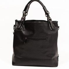 Tracce Bags 'The Dafi' - Black Italian Faux Leather