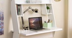 Wildon Home ® Studio Floating Desk with Hutch Living Room Decor, Bedroom Decor, Bedroom Ideas, Welcome To My House, Floating Desk, Small Space Design, Tiny Apartments, Room Planning, My New Room