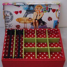 caixa de madeira para jóias Paris